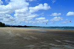 Kitesurfing beach in Efate Island, Vanuatu Royalty Free Stock Images