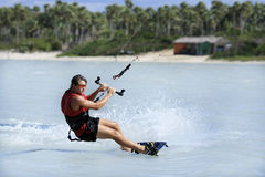 Kitesurfing in brazil Stock Photos