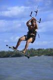 Kitesurfing in brazil Stock Image