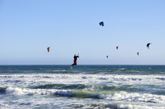 Kitesurfing in California Stock Photos