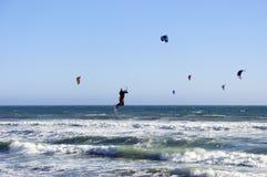 Kitesurfing in California Stock Photos