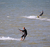 Kitesurfing competition Stock Photography