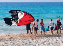 Kitesurfing In Cuba Stock Images