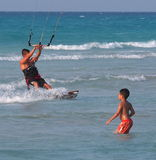 Kitesurfing In Cuba Stock Photography