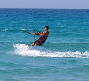 Kitesurfing In Cuba Royalty Free Stock Photo