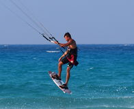 Kitesurfing In Cuba Royalty Free Stock Images