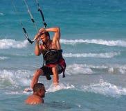 Kitesurfing In Cuba Stock Photo