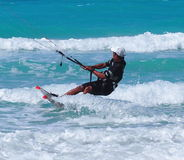 Kitesurfing In Cuba Royalty Free Stock Photography