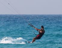 Kitesurfing In Cuba Stock Photos