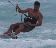 Kitesurfing In Cuba Stock Image