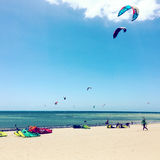 Kitesurfing Royalty Free Stock Images