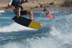Kitesurfing extreme sport Royalty Free Stock Photo