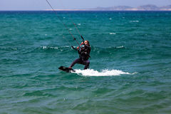 Kitesurfing girl Stock Photography