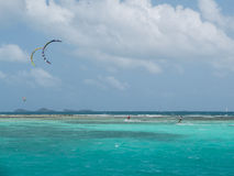 Kitesurfing in Grenada Stock Photography