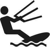 Kitesurfing icon. Vector sports icon Stock Images