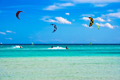 Kitesurfing in Italy Royalty Free Stock Images