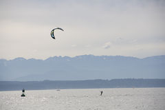 Kitesurfing kiteboarding surfing Stock Images