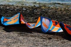 Kitesurfing lub windsurfing Fotografia Royalty Free