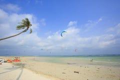 Kitesurfing na Koh Samui wyspie 31 2015 Styczeń Obraz Stock