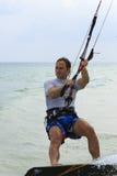 Kitesurfing na Koh Samui wyspie 31 2015 Styczeń Fotografia Stock