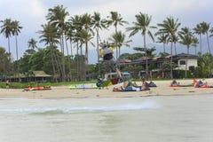 Kitesurfing na Koh Samui wyspie 31 2015 Styczeń Zdjęcie Royalty Free