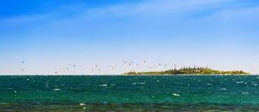 Kitesurfing New Caledonia Stock Image