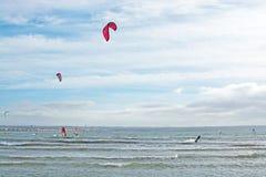 Kitesurfing Playa de Palma Foto de Stock Royalty Free