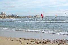 Kitesurfing Playa de Palma Fotografia de Stock Royalty Free