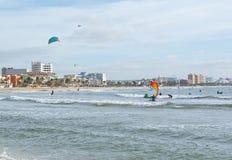 Kitesurfing Playa de Palma Imagens de Stock Royalty Free