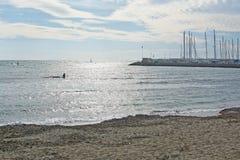 Kitesurfing Playa de Palma Fotos de Stock