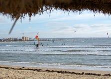 Kitesurfing Playa de Palma Fotografia de Stock