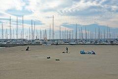Kitesurfing Playa de Palma Στοκ φωτογραφία με δικαίωμα ελεύθερης χρήσης
