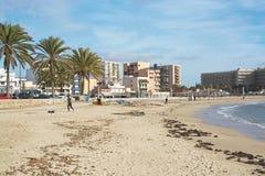 Kitesurfing Playa de Palma Στοκ φωτογραφίες με δικαίωμα ελεύθερης χρήσης