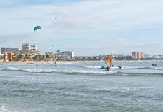 Kitesurfing Playa de Palma Royalty Free Stock Images