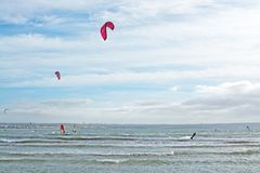Kitesurfing Playa de Palma Royalty Free Stock Photo