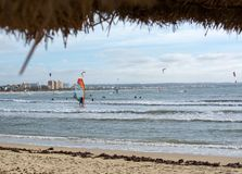 Kitesurfing Playa de Palma Stock Photography