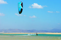 Kitesurfing in Sotavento Stock Photos