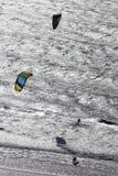 Kitesurfing, sport estremi. immagini stock libere da diritti