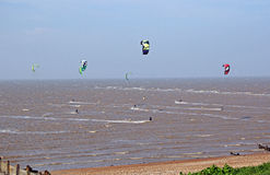 Kitesurfing sports Royalty Free Stock Photography