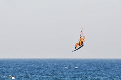 Kitesurfing in the Summer Stock Photography