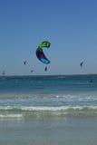 Kitesurfing stock photo