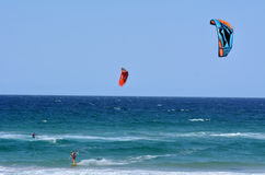 Kitesurfing in Surfers Paradise Queensland Australia Stock Photos