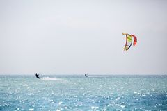 Kitesurfing Royalty Free Stock Photo