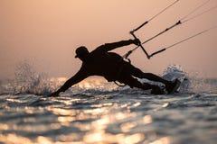 Kitesurfing. Various kitesurfing high arenaline action photos Stock Images