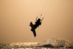 Kitesurfing. Various kitesurfing high arenaline action photos Stock Photos
