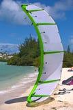 Kitesurfing wing kite Stock Photography