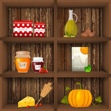 Kithcen shelves Stock Images