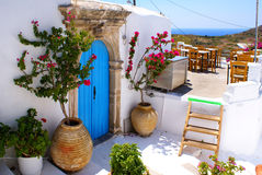 传统希腊房子的kithira 免版税库存图片