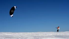 kiting的滑雪 免版税库存图片