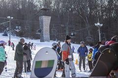 kiting зима спортов лыжи реки снежная Стоковые Фотографии RF